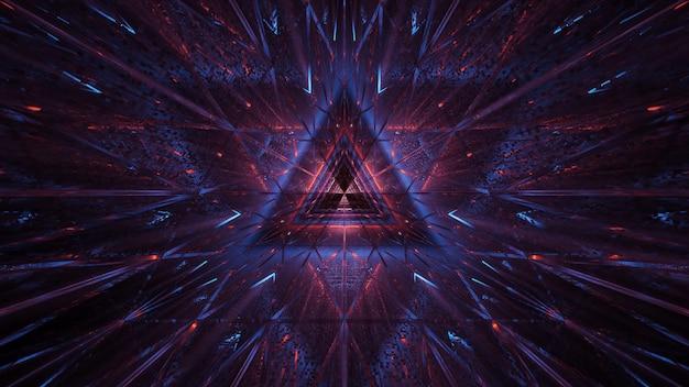 Fond cosmique de lumières laser violet-bleu et rouge