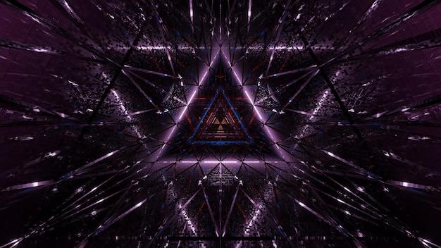 Fond cosmique de lumières laser violettes et noires - parfait pour un fond d'écran numérique