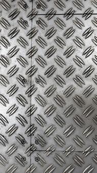 Fond de couleur argenté de plancher de tôle antidérapante