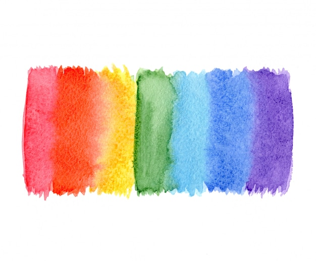 Fond de couleurs arc-en-ciel aquarelle abstraite