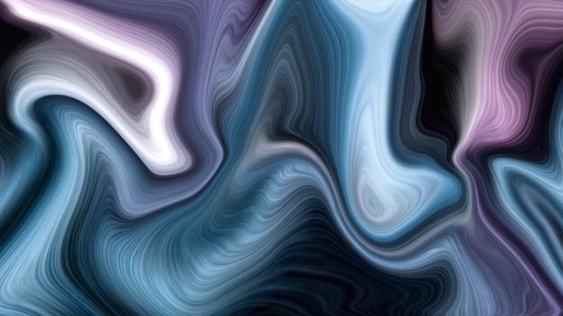 Fond de couleurs liquides violet et bleu de luxe