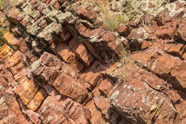 Fond de couleurs rouges et brunes de texture en pierre