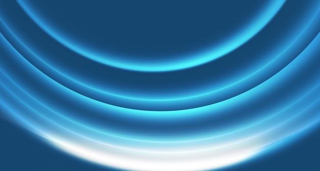 Fond de courbes brillantes abstraites graphiques