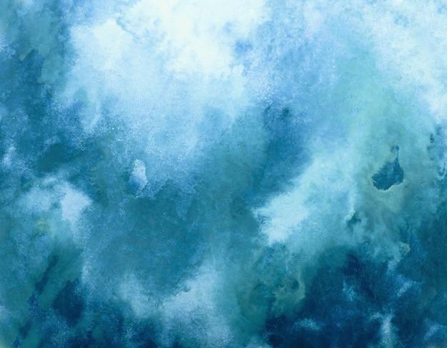 Fond de course splash aquarelle bleu. grâce au dessin