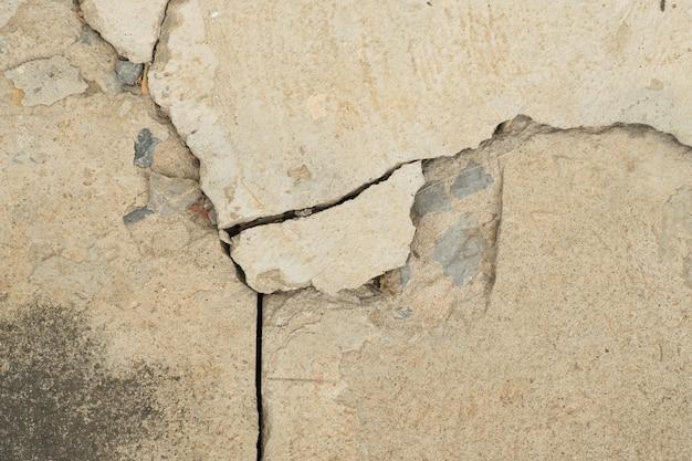 Fond de craquage de texture de béton fissuré