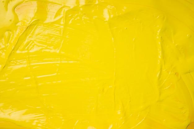Fond créatif de peinture jaune