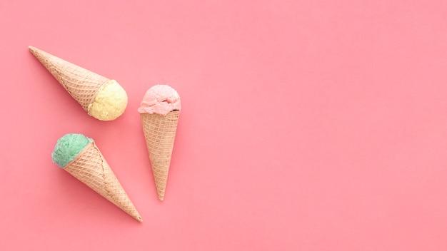 Fond de crème glacée avec fond