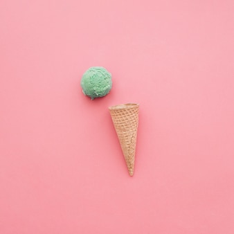 Fond de crème glacée