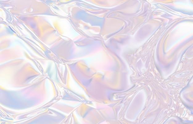 Fond de cristal géométrique abstrait, texture irisée, gemme à facettes, liquide. rendu 3d.