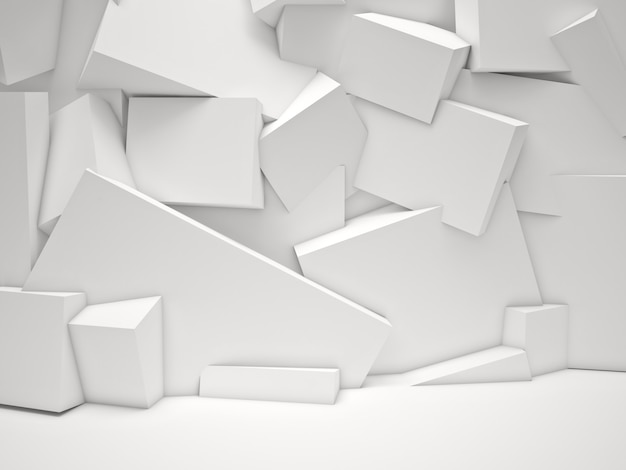 Fond de cubes blancs