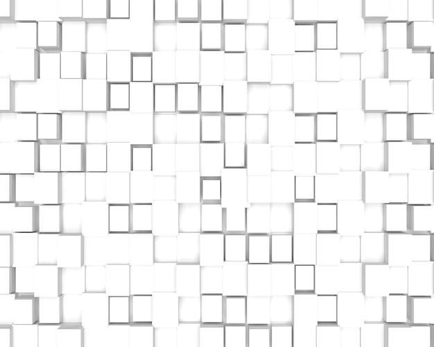 Fond avec des cubes en trois dimensions. rendu 3d