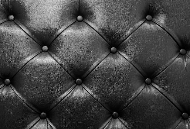Fond de cuir de canapé noir