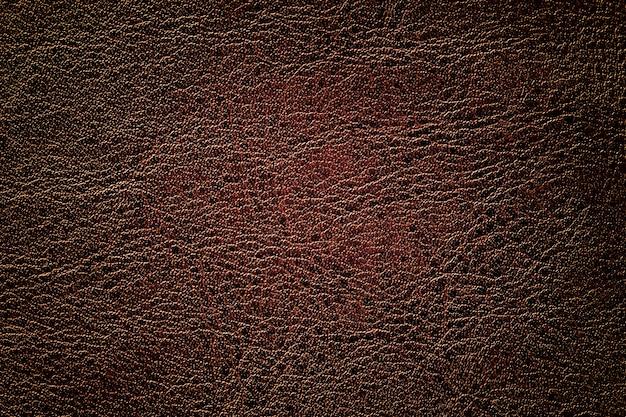 Fond en cuir marron foncé, gros plan