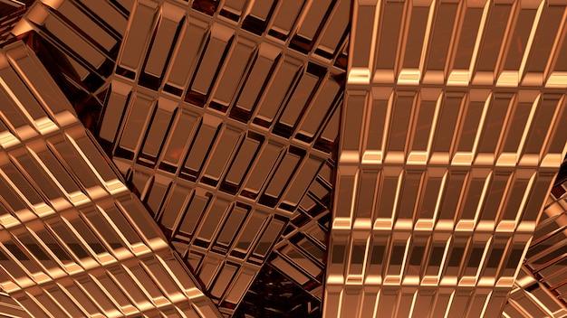 Fond de cuivre abstrait rendu 3d
