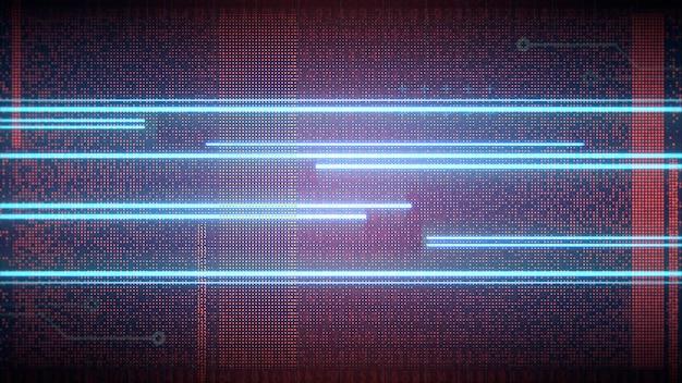 Fond cyberpunk avec lignes néon et grille matricielle