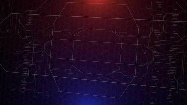 Fond cyberpunk avec matrice informatique et grille. style d'illustration 3d moderne et futuriste pour le thème cyberpunk et cinématographique