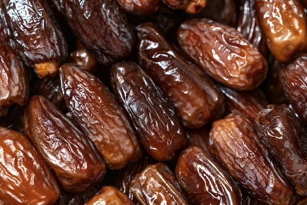 Fond de dates tunisiennes sucrées sèches