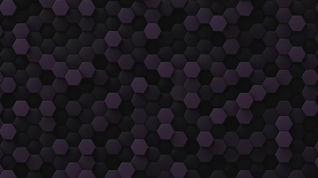 Fond décoratif dans des tons violet foncé. toile de fond à faible contraste. beaucoup de cellules hexagonales