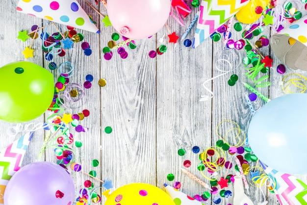 Fond de décoration de fête d'anniversaire
