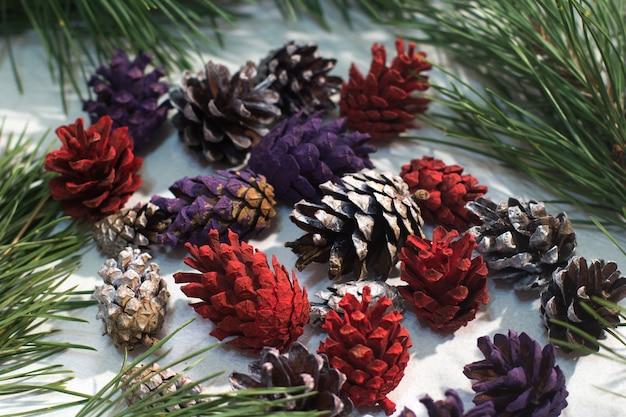 Fond de décoration d'hiver nature.