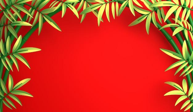 Fond de décoration joyeux nouvel an chinois avec bambou