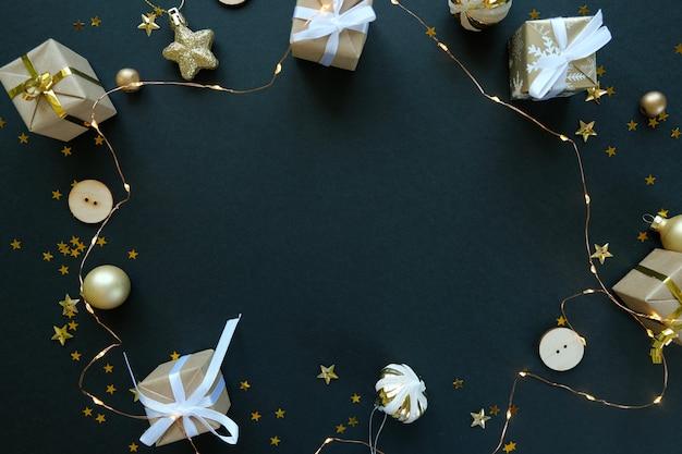Fond de décoration de noël ou du nouvel an