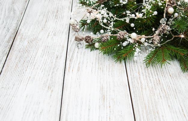 Fond de décoration de vacances de noël