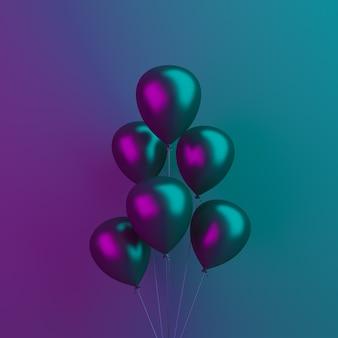 Fond de décoration de vente vendredi noir avec des ballons volants