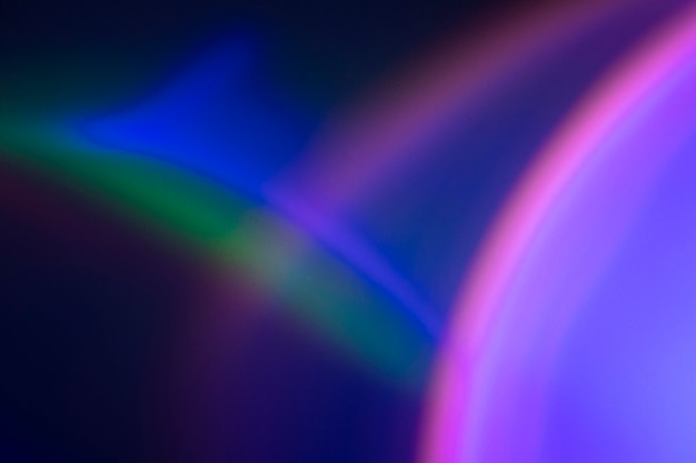 Fond dégradé arc-en-ciel avec lumière led au néon