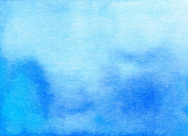 Fond dégradé bleu aquarelle peint à la main