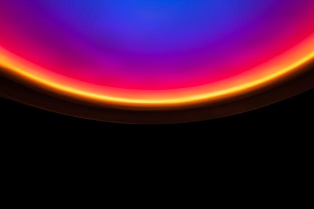 Fond dégradé coloré avec lumière led néon
