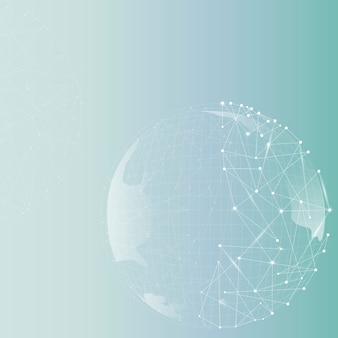 Fond dégradé d'entreprise de technologie de globe