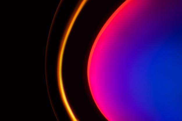 Fond dégradé avec lampe de projecteur de coucher de soleil