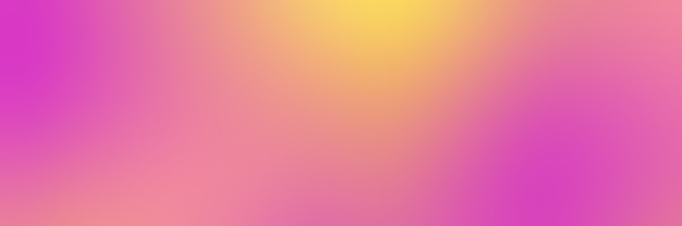 Fond dégradé lisse avec des couleurs roses et jaunes, format bannière.