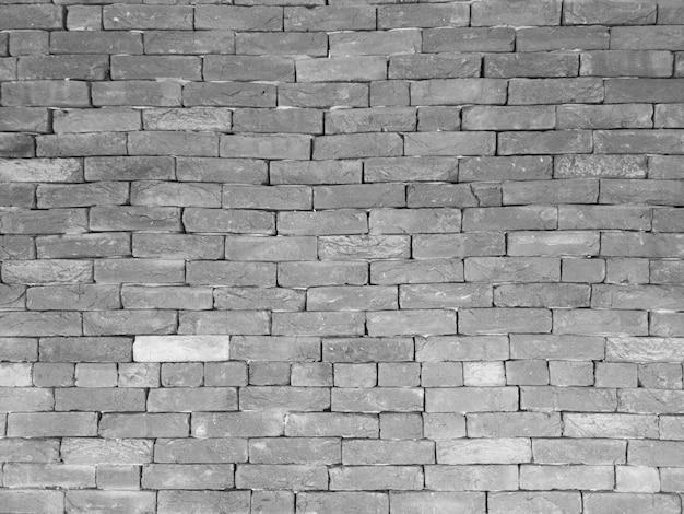 Fond avec détail de mur de brique noir et blanc