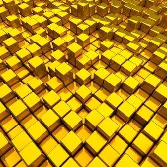 Fond avec différentes boîtes dorées