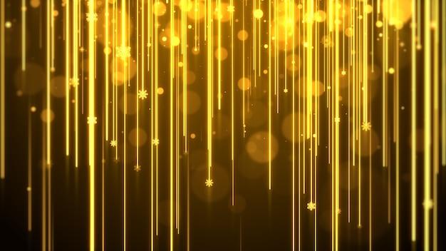 Fond doré avec des lumières et des étincelles