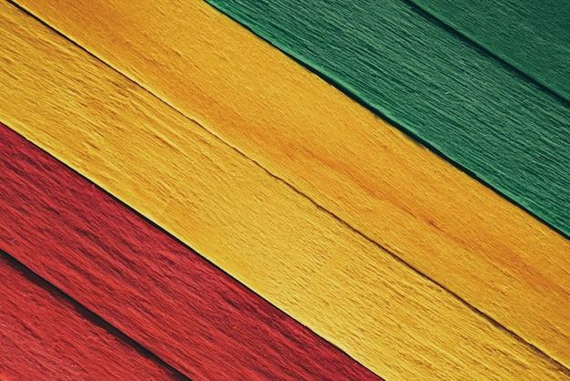 Fond de drapeau de reggae en bois
