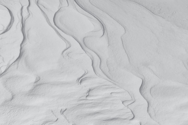 Le fond du sol couvert de neige