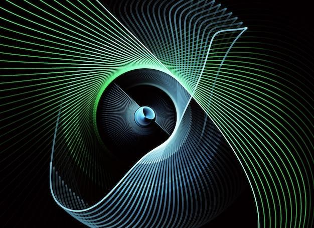 Fond dynamique de couleur abstraite avec effet d'éclairage.