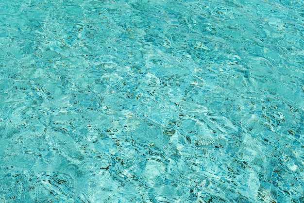 Fond de l'eau bleu clair piscine ridée