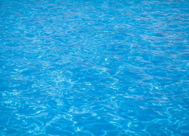 Fond d'eau, ondulation et flux avec des vagues. modèle de piscine bleu d'été. mer, surface de l'océan. vue de dessus avec place pour le texte.