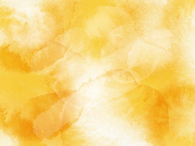 Fond d'éclaboussure de pinceau aquarelle jaune vif