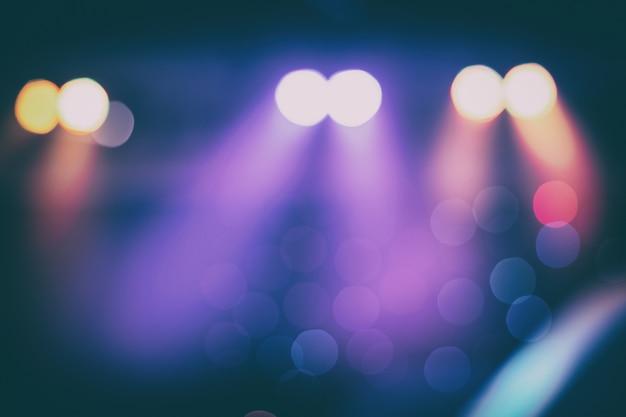 Fond d'écran bokeh. diffuse ou arrière-plan flou de l'éclairage de la scène en couleur vintage.