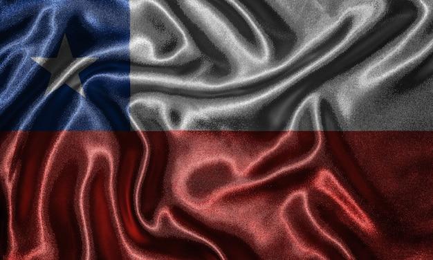 Fond d'écran drapeau du chili et agitant le drapeau par tissu.