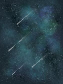 Fond d'écran galaxie verte avec illustration de la comète