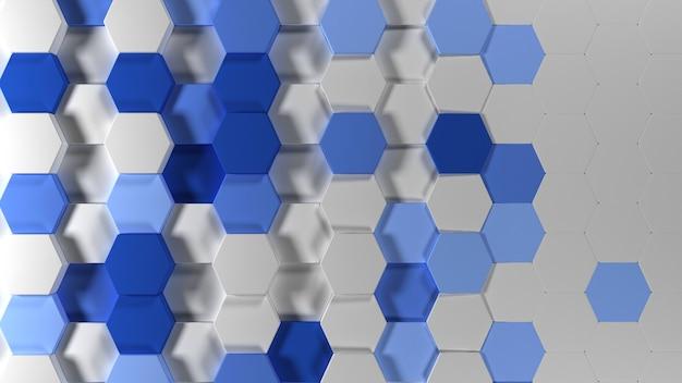 Fond d'écran géométrique abstrait hexagonal 3d