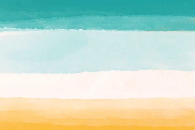 Fond d'écran mobile aquarelle, conception abstraite de papier peint de bureau bleu jaune