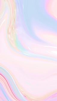 Fond d'écran mobile holographique pastel abstrait
