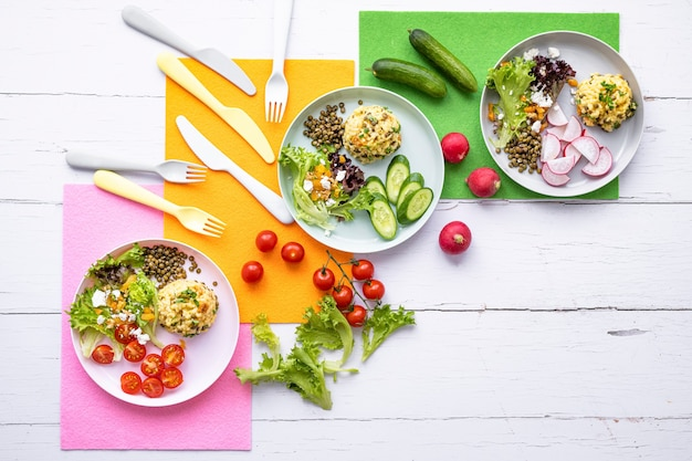 Fond d'écran de nourriture pour enfants en bonne santé